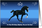 You are the Star, Nephew Birthday with Horse Colt card