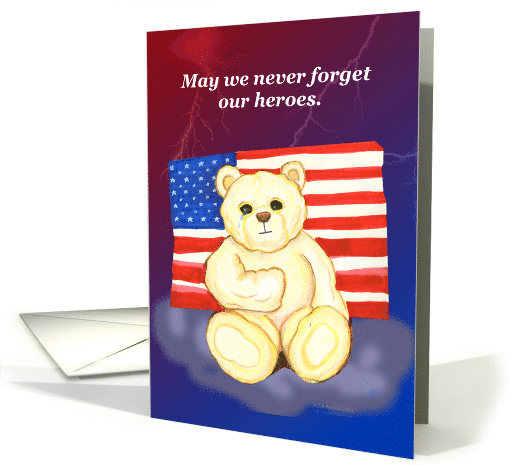 Teddy Bear Patriotic Card by Starhorsepax Designs