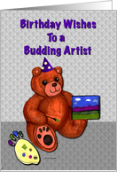Birthday for Artist Painting Teddy Bear