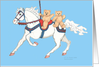 Teddy Bears on Carousel Horse Twin Birthday