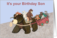 Teddy Bear Wagon Birthday for Son