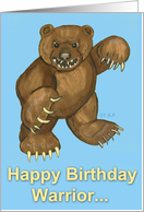 Warrior Bear Birthday