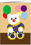 For Student Birthday Clown Bear