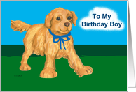 Golden Retriever Puppy Birthday for Son