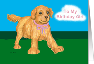 Golden Retriever Puppy Birthday for Daughter