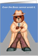 For Boss Birthday Bear in Fedora and Duster