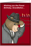 Grandfather, Bear with Fedora Birthday