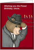 Uncle Birthday Bear with Fedora