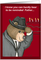 Father Birthday Fedora Bear