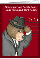 Fedora Birthday Bear For Friend
