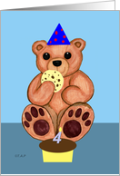 Teddy Bear Fourth Birthday