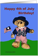 Happy Fourth of July Independence Day Teddy Bear