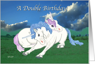 Twins Birthday Unicorns