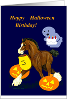 Halloween Birthday Clydesdale Foal
