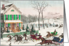 Christmas Day Sleigh Races, A Vintage Christmas Card