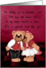 hugs and kisses bear valentine card