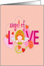 Angel of love valentine card