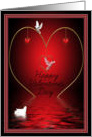 Happy Valentine's day doves and hearts card