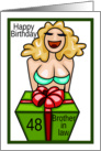 Happy Birthday brother in law 48 years sexy lady present card