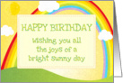 Happy Birthday sunshine rainbow joys of a bright sunny day card