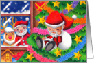 Father Christmas doll card