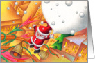 Father Christmas who came from the sky card