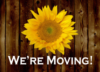 Rustic Sunflower Moving Announcement, Were Moving! Greeting Card