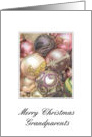 Grandparents - Merry Christmas pastel decorated ornaments card