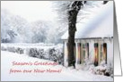 Season's Greetings from our new home - new address announcement card