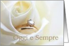 Oggi e sempre, Italian Congratulations on wedding day - Bridal set in white rose card