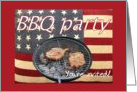4th of July BBQ invitation card