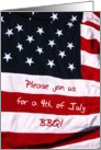 fouth of July BBQ invitation card