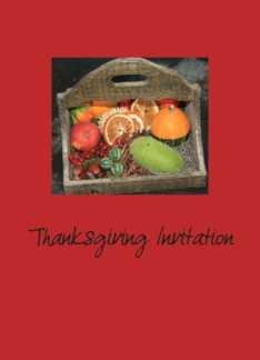 Thanksgiving Invitation Autumn Fruits Greeting Card