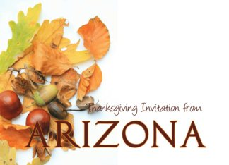 Autumn Foliage Thanksgiving Invitation from Arizona Greeting Card