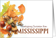 Autumn Foliage Thanksgiving Invitation from Mississippi card