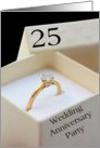 25th Wedding Anniversary Invitation Card - diamond ring in box card