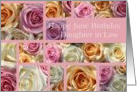 daughter in law Happy June Birthday pastel roses collage card - Rose June Birth Month Flower card