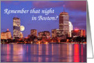 Boston Skyline Anniversary Card