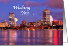 Boston Skyline Birthday Card
