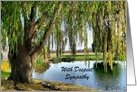 Weeping Willow Sympathy card
