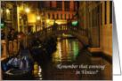 Romance in Venice card