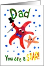 Starfish Father&rsquo;s Day Card