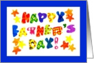 Bright and Jazzy Happy Father&rsquo;s Day Card with Stars card