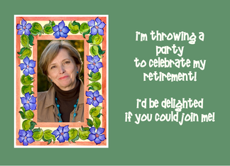 Retirement Party Invitation Photo Card - Periwinkles Greeting Card