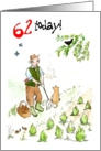 &rsquo;62 today&rsquo; Birthday Card