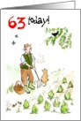 &rsquo;63 today&rsquo; Birthday Card