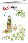 &rsquo;65 today&rsquo; Birthday Card