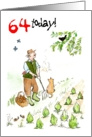 &rsquo;64 today&rsquo; Birthday Card