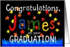 James Graduation Congratulations card