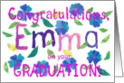 Emma Graduation Congratulations, Colorful Flowers card